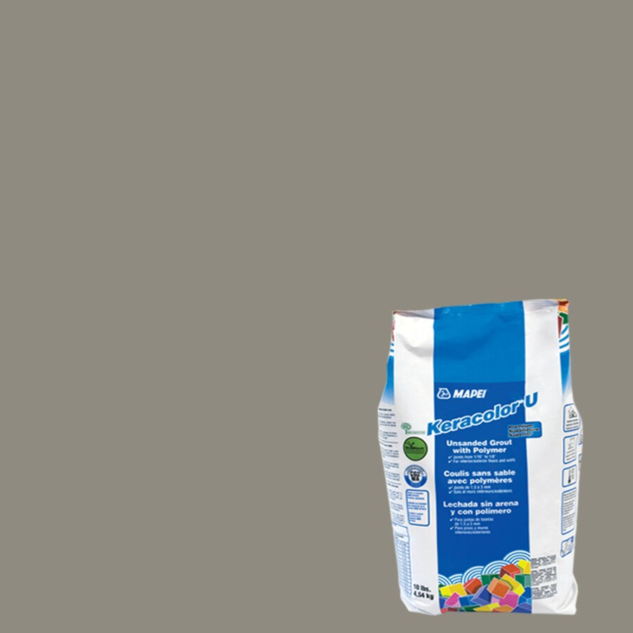 MAPEI 10-lbs Pewter Unsanded Powder Grout