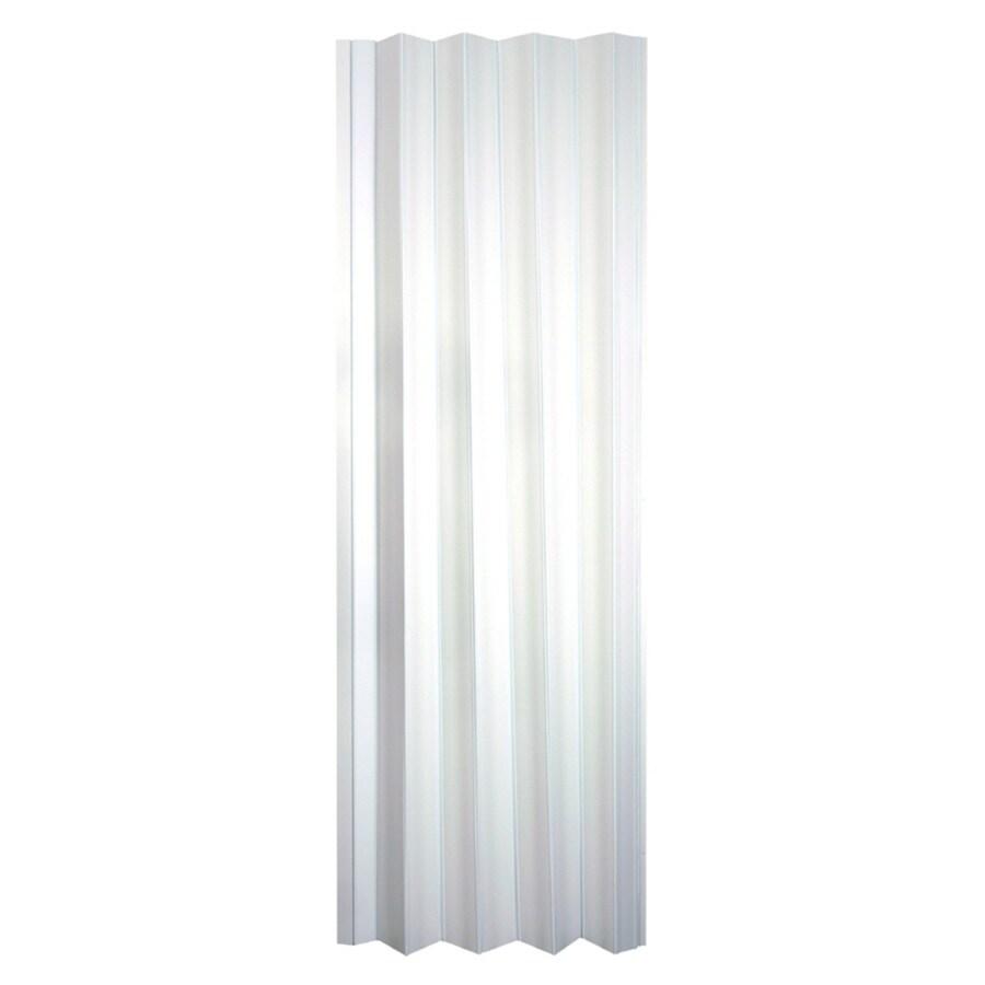 Spectrum Via White 1-Panel Accordion Interior Door (Common: 36-in x 80-in; Actual: 36.5-in x 78.75-in)