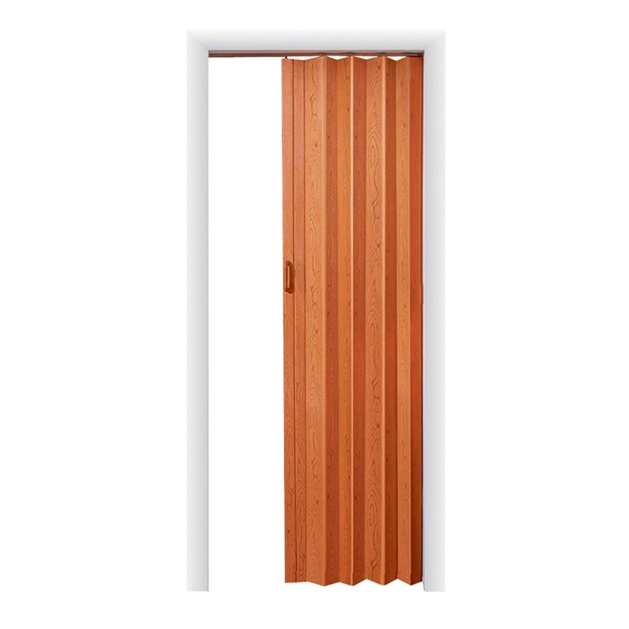 Spectrum Oakmont Pecan Hollow Core 1-Panel Accordion Interior Door (Common: 48-in x 96-in; Actual: 49.5-in x 95.75-in)