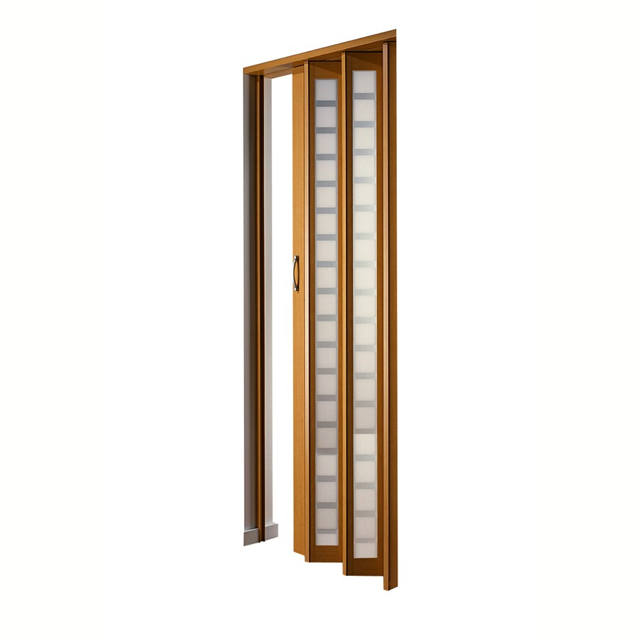 Shop Spectrum Metro Beech Hollow Core 1 Panel Accordion Interior Door Common 32 In X 80 In