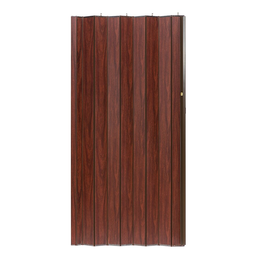Spectrum Woodshire Brown Solid Core 1-Panel Accordion Interior Door (Common: 36-in x 80-in; Actual: 36.25-in x 79.375-in)
