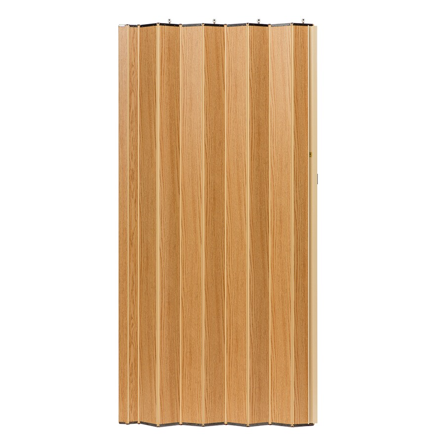 Shop Spectrum Woodshire Oak Solid Core 1 Panel Accordion Interior Door Common 36 In X 80 In