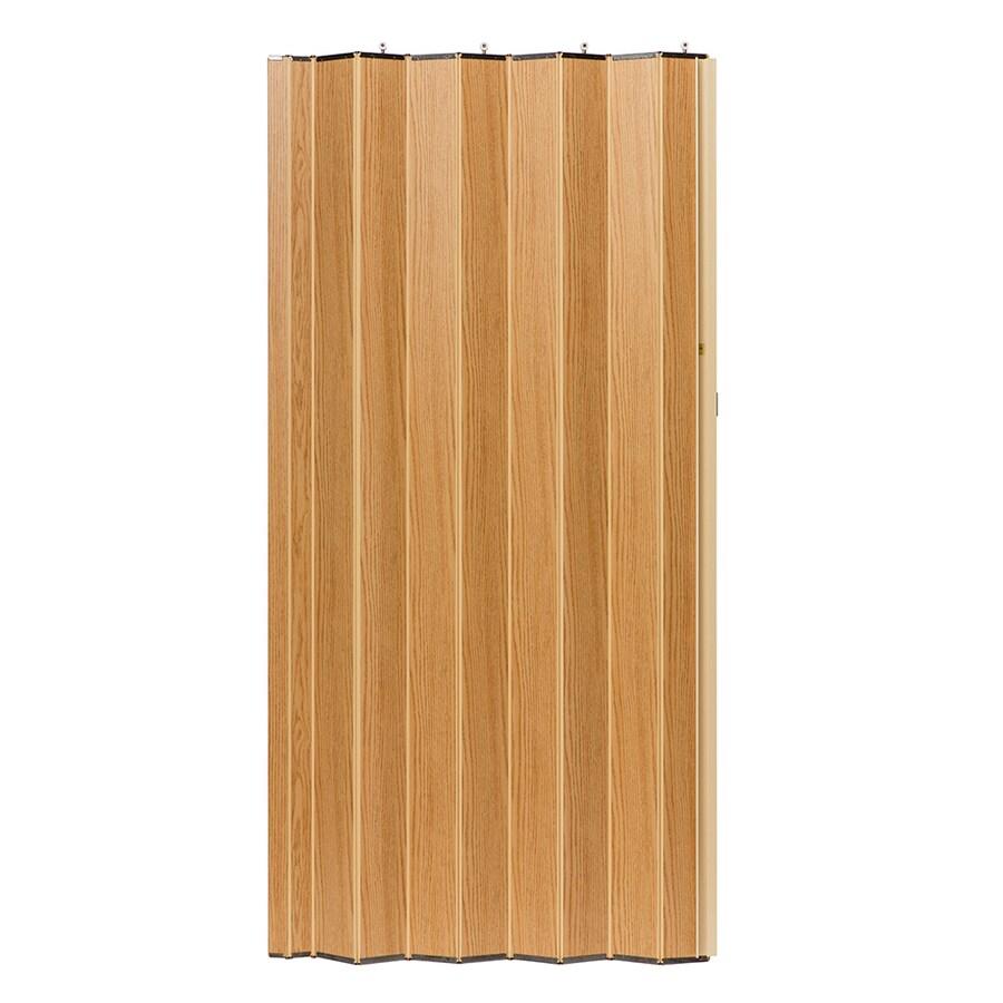 Spectrum Woodshire Oak Solid Core 1-Panel Accordion Interior Door (Common: 36-in x 96-in; Actual: 36.25-in x 95.375-in)