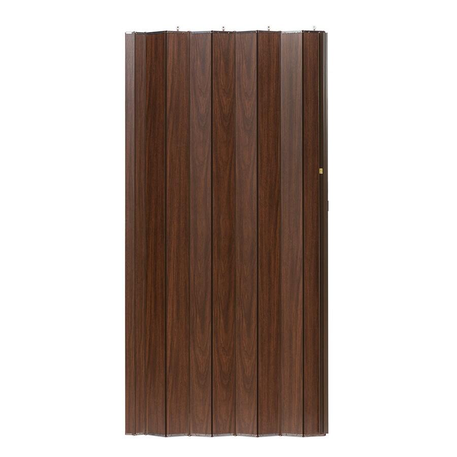 Spectrum Woodshire Brown Solid Core 1-Panel Accordion Interior Door (Common: 36-in x 96-in; Actual: 36.25-in x 95.375-in)