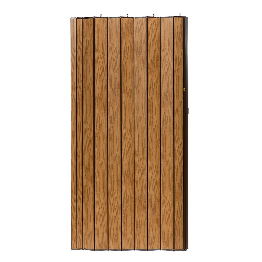 Shop Spectrum Woodshire Oak Solid Core 1 Panel Accordion Interior Door Common 48 In X 96 In