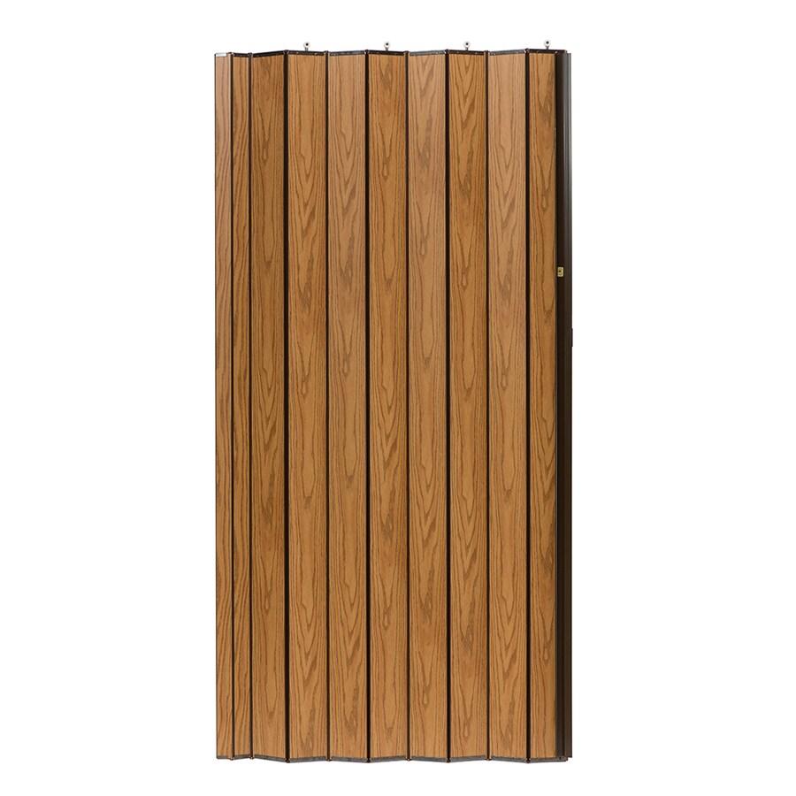 Spectrum Woodshire Oak Solid Core 1-Panel Accordion Interior Door (Common: 48-in x 96-in; Actual: 49-in x 95.375-in)