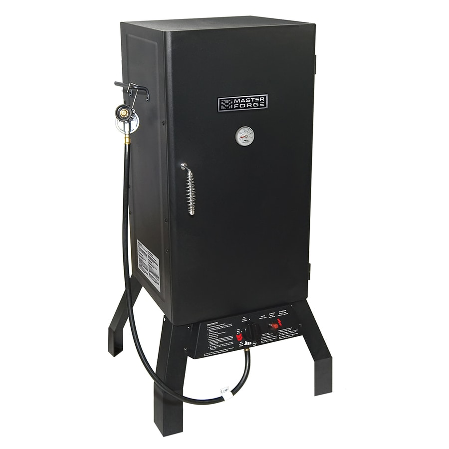 Master Forge 20-lb Cylinder Manual Ignition Gas Vertical Smoker (Common: 33.3-in; Actual: 33.3-in)