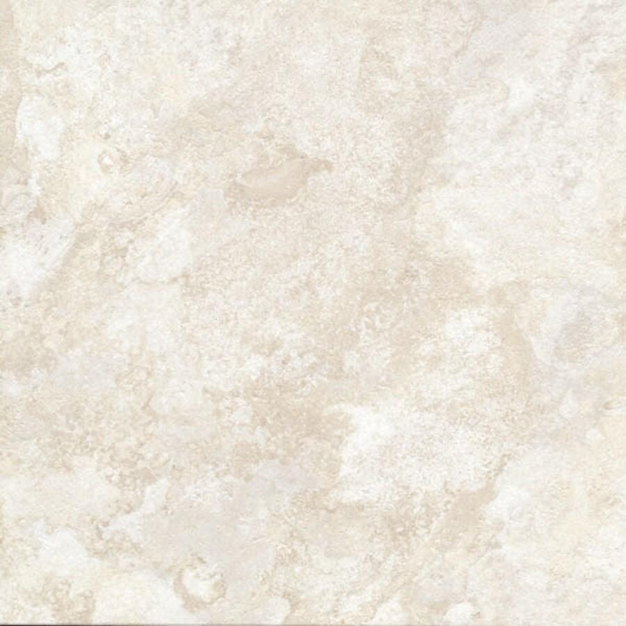 Cryntel Italiastone 12-in x 12-in Groutable Bianco Peel-and-Stick Stone Luxury Residential Vinyl Tile