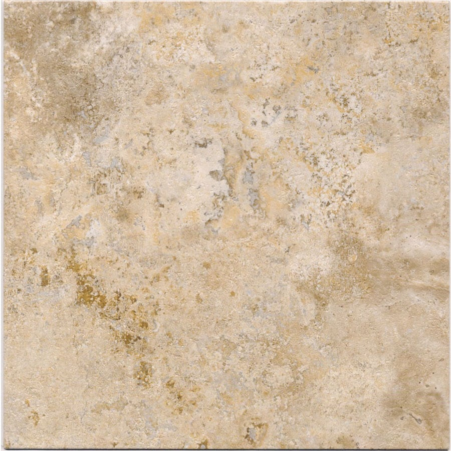 Cryntel Italiastone 12-in x 12-in Groutable Travertine Peel-and-Stick Stone Luxury Residential Vinyl Tile