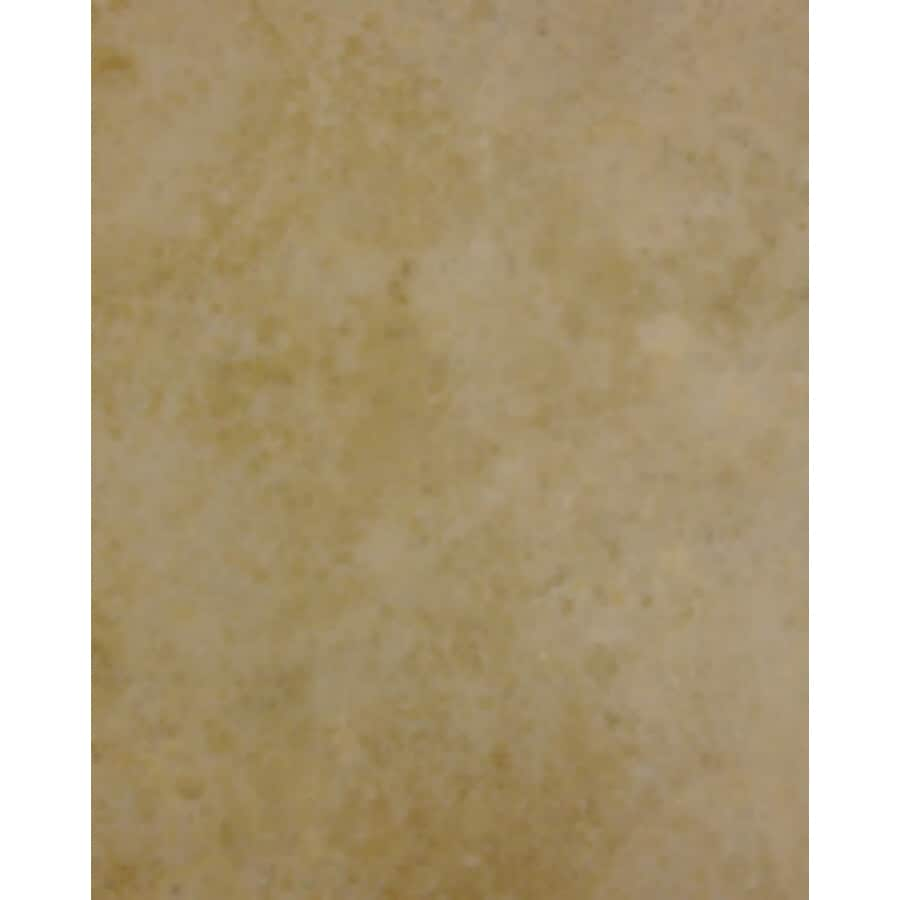 Cryntel 18-in x 18-in Romastone Beige Sand Travertine Finish Peel-And-Stick Luxury Vinyl Tile