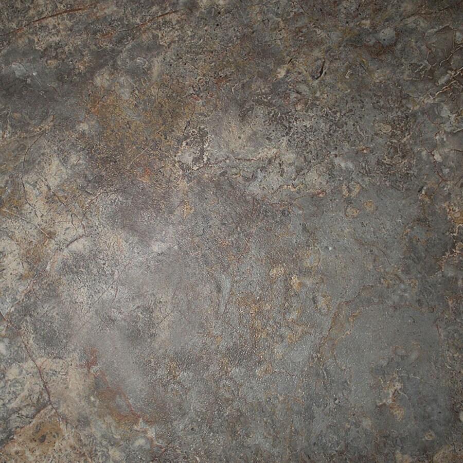 Cryntel 18-in x 18-in Romastone Graphite Stone Finish Luxury Vinyl Tile