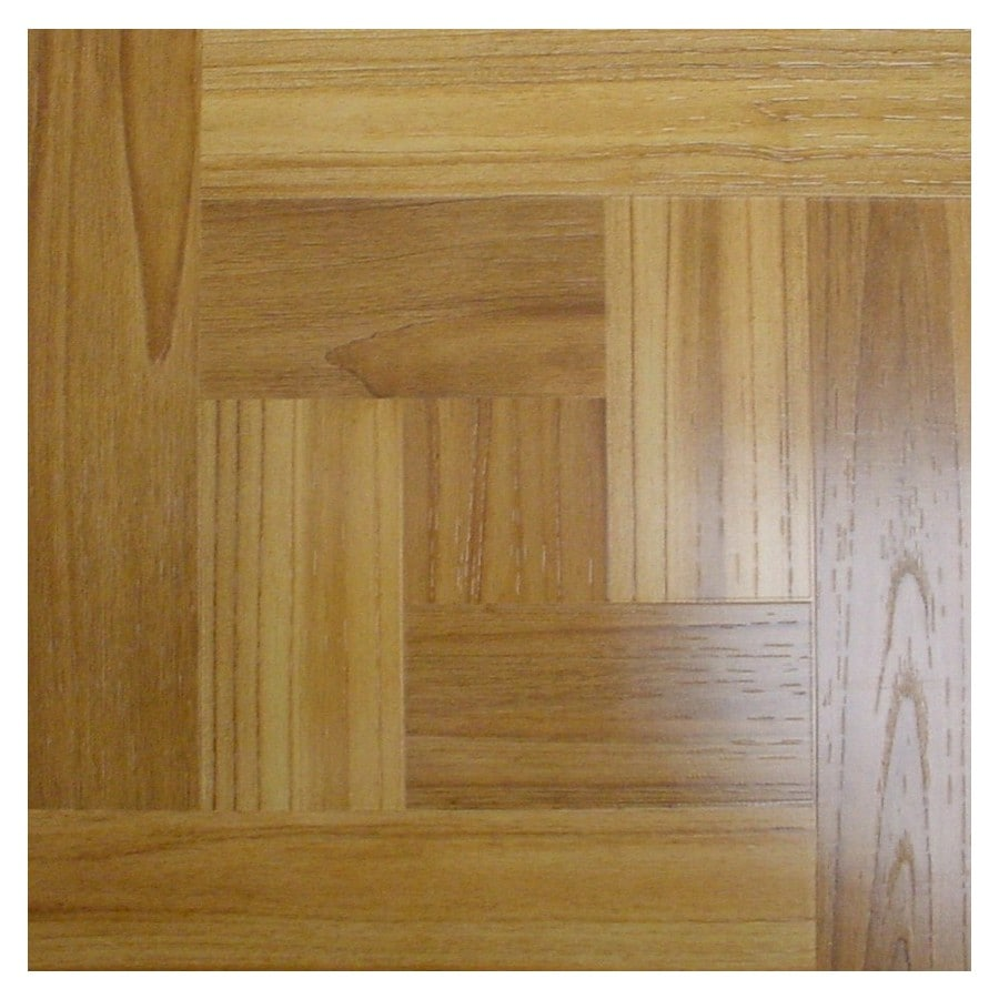 Style Selections 12-in x 12-in Chalet Peel-and-Stick Wood Residential Vinyl Tile