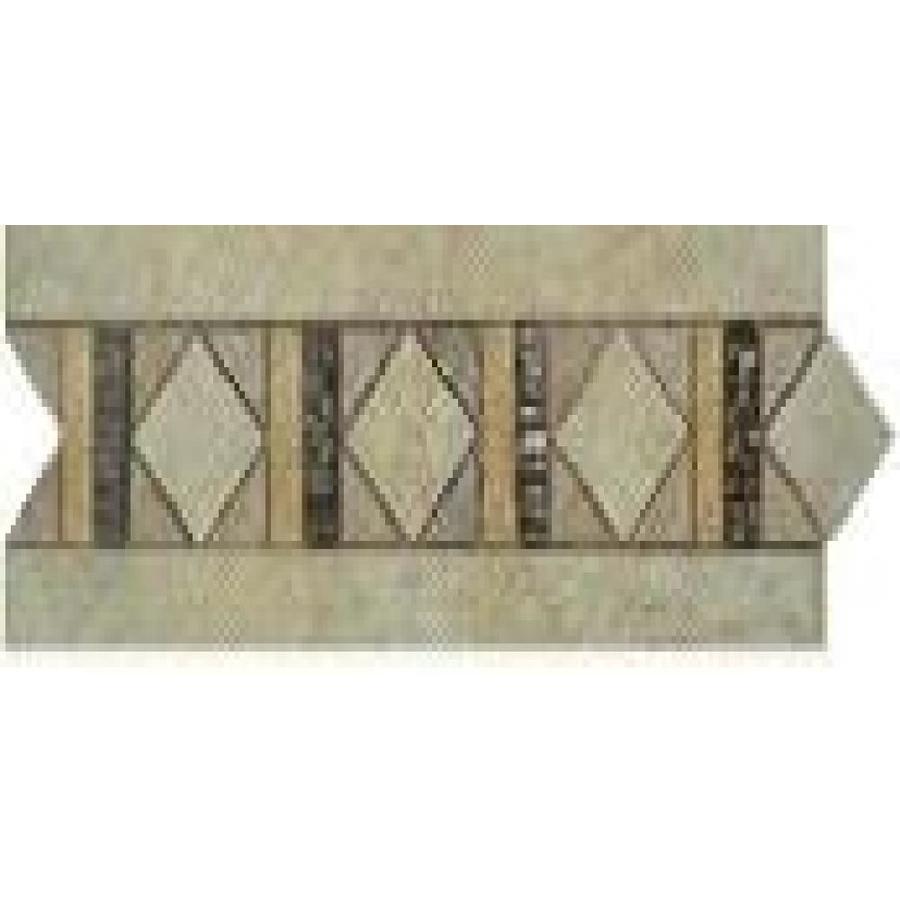 Style Selections Capri Mixed/Glazed Porcelain Thru Body Porcelain Listello  Tile (7-in x 7-in)
