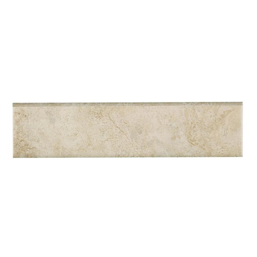 Style Selections Capri Natural Thru Body Porcelain Bullnose Tile (Common: 3-in x 12-in; Actual: 2.83-in x 11.81-in)