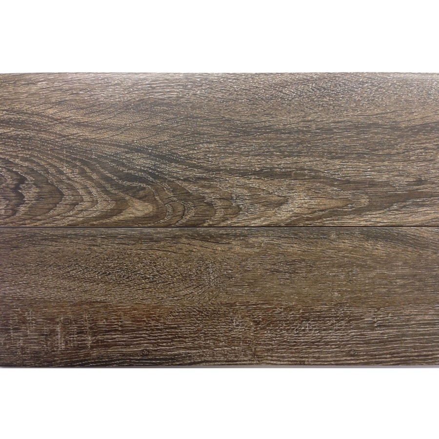 Shop gbi tile stone inc madeira oak ceramic floor tile common 6 in x 24 in actual Ceramic stone tile