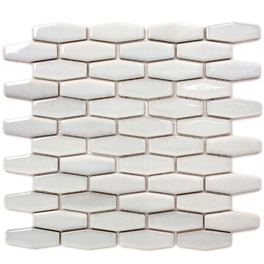 GBI Tile & Stone Inc. Gray Subway Mosaic Porcelain Wall Tile (Common: 12-in x 14-in; Actual: 12.13-in x 13.86-in)