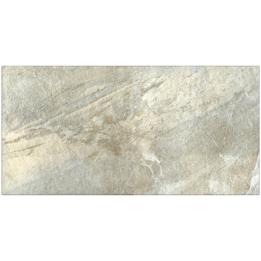 Style Selections Carone Quartzite Porcelain Floor Tile (Common: 12-in x 24-in; Actual: 11.81-in x 23.62-in)