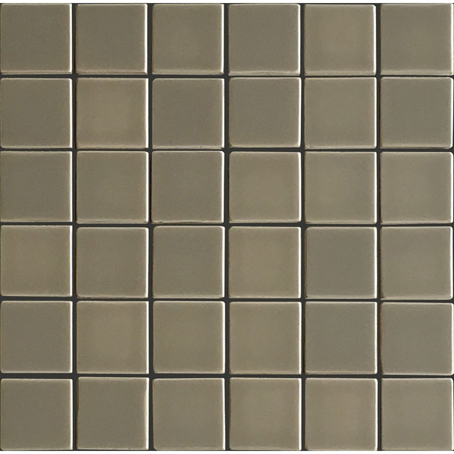allen + roth Allen + Roth Chocolate Uniform Squares Mosaic Ceramic Wall Tile (Common: 12-in x 12-in; Actual: 11.77-in x 11.81-in)
