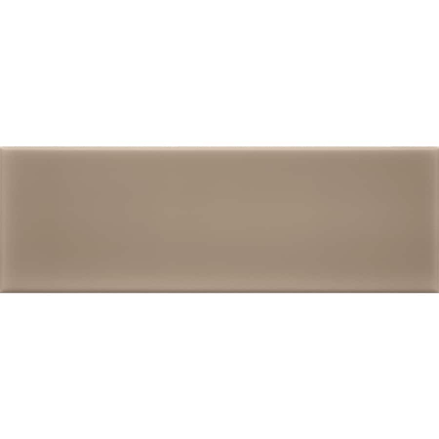 allen + roth Chocolate Ceramic Wall Tile (Common: 4-in x 12-in; Actual: 3.93-in x 11.81-in)