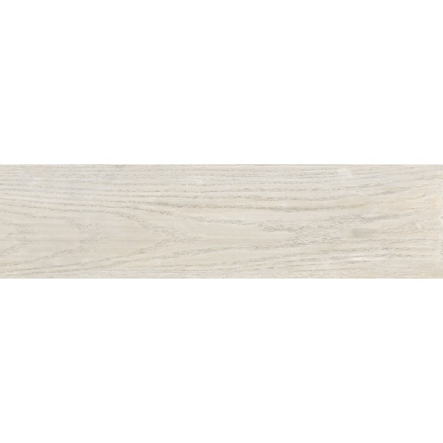 Style Selections Eldon White Wood Look Porcelain Floor Tile (Common: 6-in x 24-in; Actual: 23.62-in x 5.79-in)