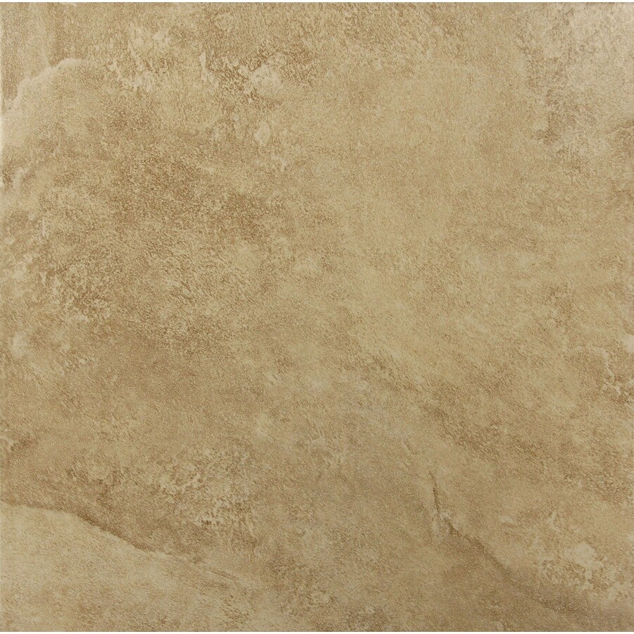 Style Selections 18-in x 18-in Sienna Walnut Glazed Porcelain Floor Tile
