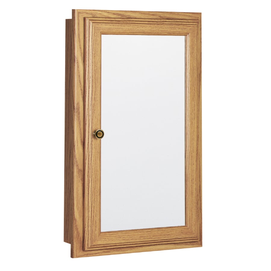 Style Selections 15.75-in x 25.75-in Recessed Medicine Cabinet
