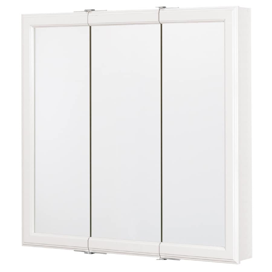 Style Selections 30.25-in x 28.75-in Surface Medicine Cabinet