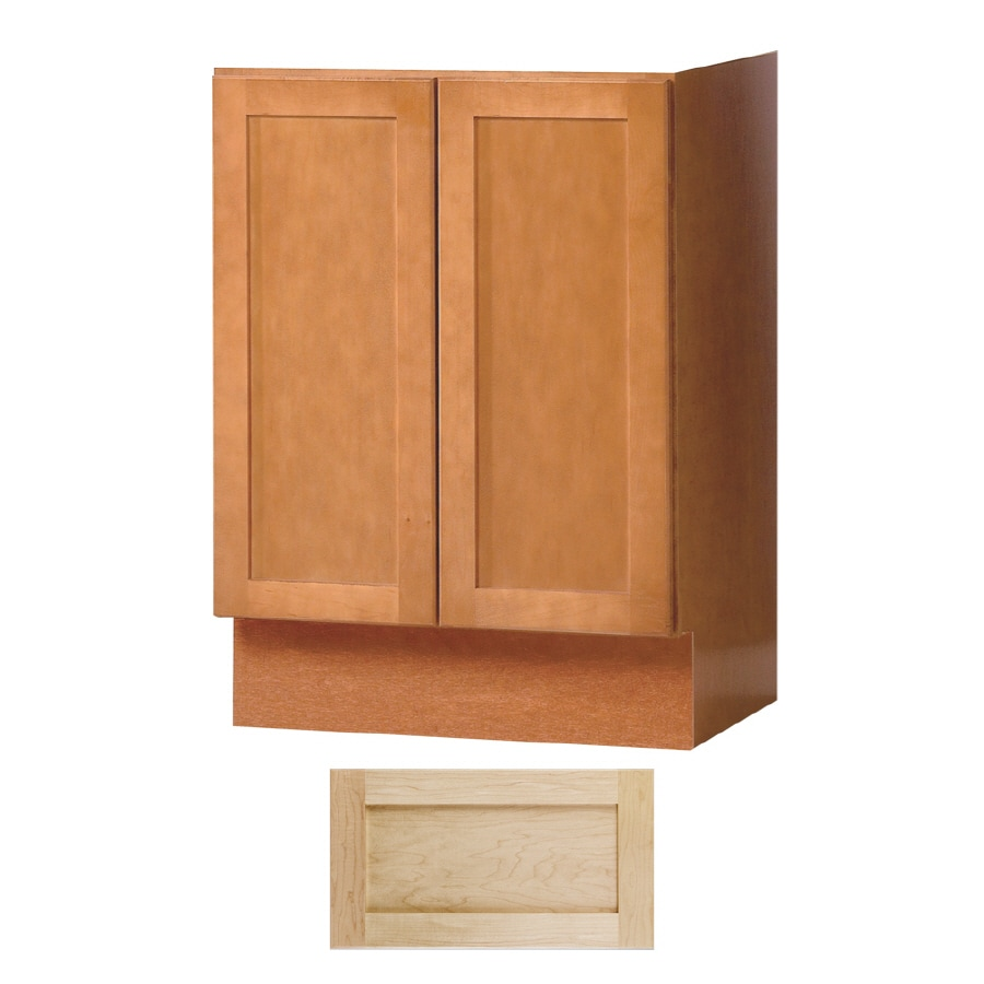 Shop Insignia Crest Natural Maple Transitional Bathroom Vanity Common 24 In X 21 In Actual