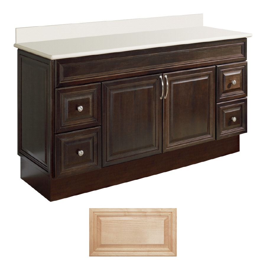 Shop insignia ridgefield natural maple traditional for 60 x 21 bathroom vanity