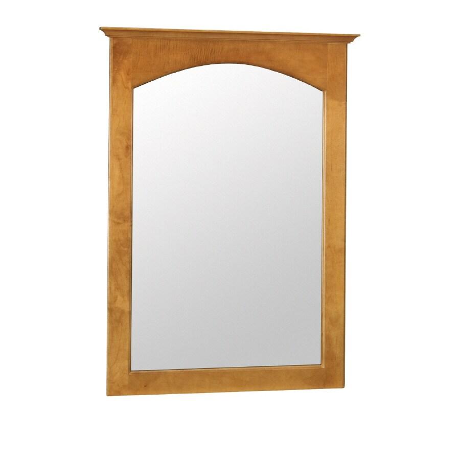"Style Selections 31""H x 22""W Premier Cinnamon Rectangular Bath Mirror"