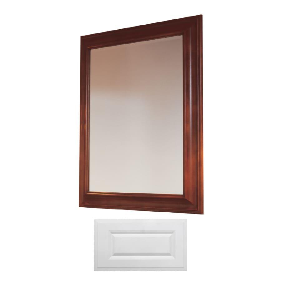 Insignia Insignia 36-in H x 30-in W Satin White Rectangular Bathroom Mirror