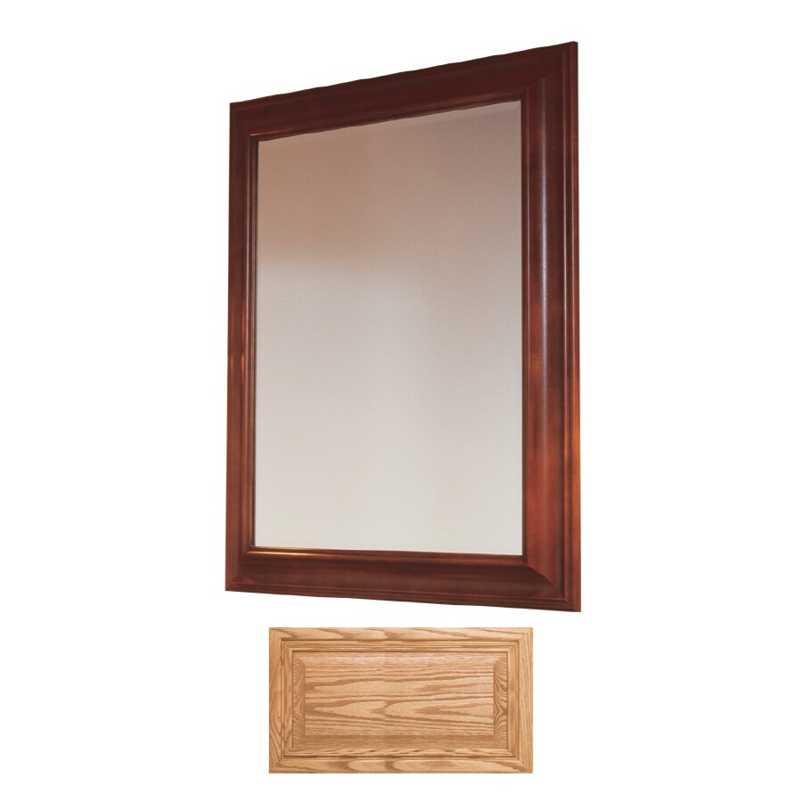 Insignia Insignia 36-in H x 30-in W Medium Oak Rectangular Bathroom Mirror