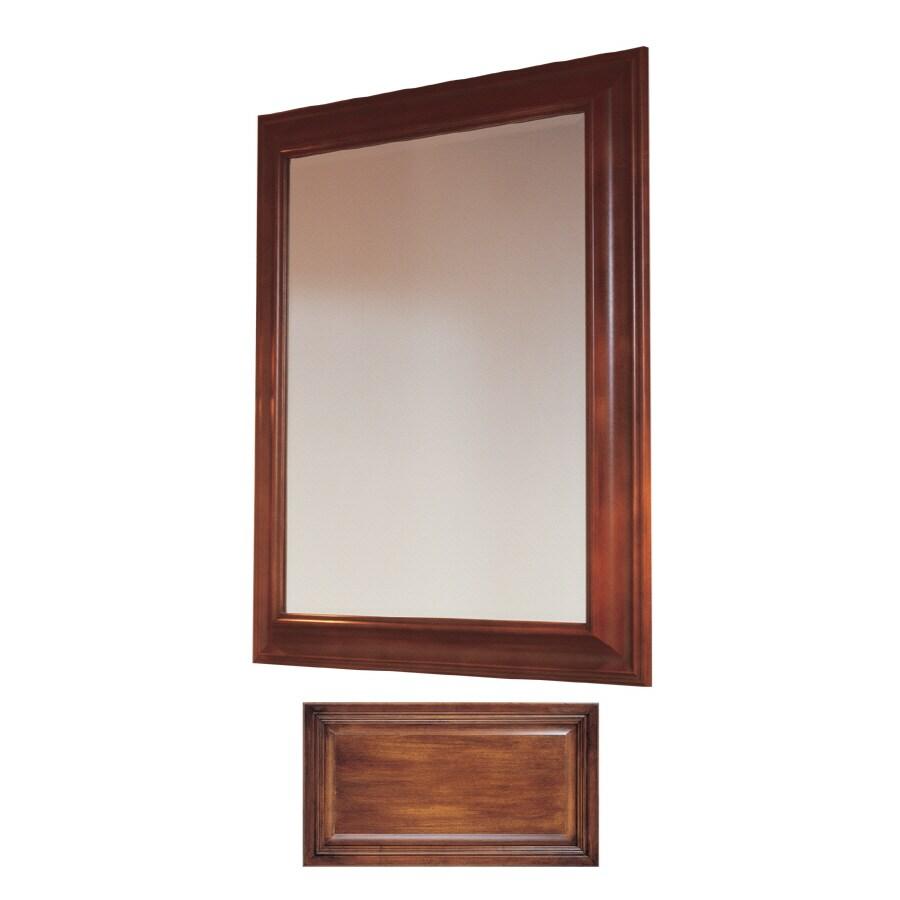 Insignia Insignia 36-in H x 30-in W Antique Cognac Rectangular Bathroom Mirror
