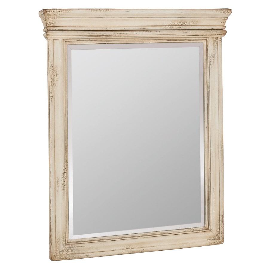 ESTATE by RSI Vintage 27-in W x 33-in H Antiqued White Rectangular Bathroom Mirror