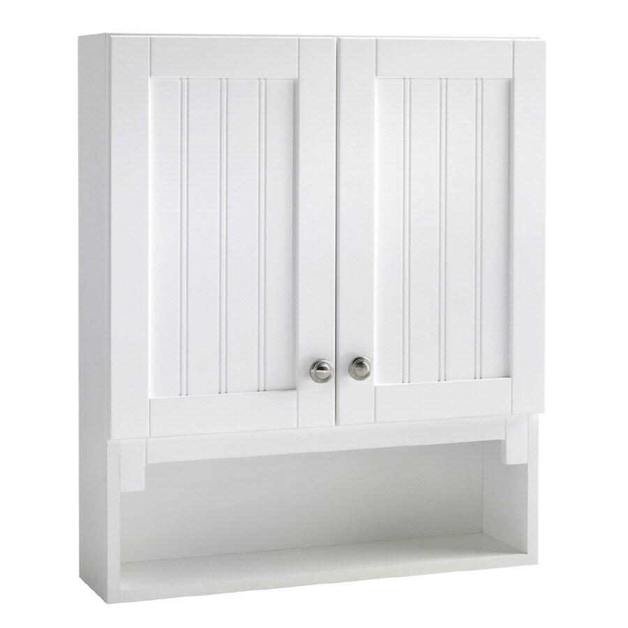 ESTATE by RSI Boardwalk 23.25-in W x 28-in H x 6.5-in D Bathroom Wall Cabinet