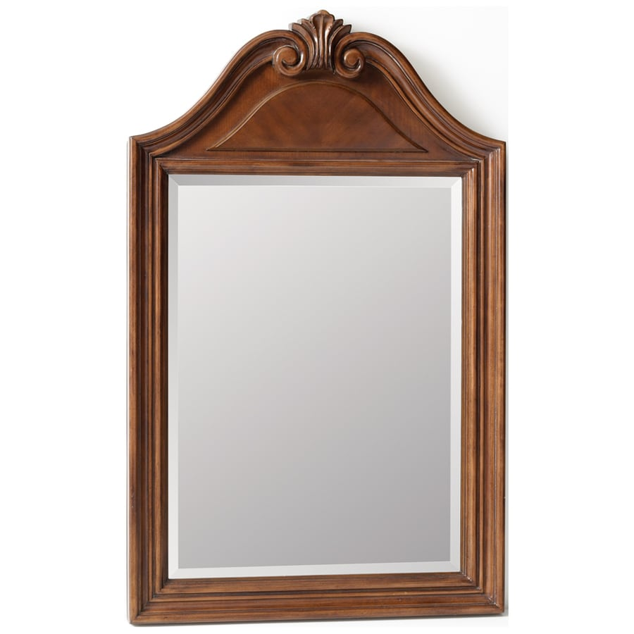 ESTATE by RSI Colonial 22-in W x 35-in H Spiced Cognac Rectangular Bathroom Mirror