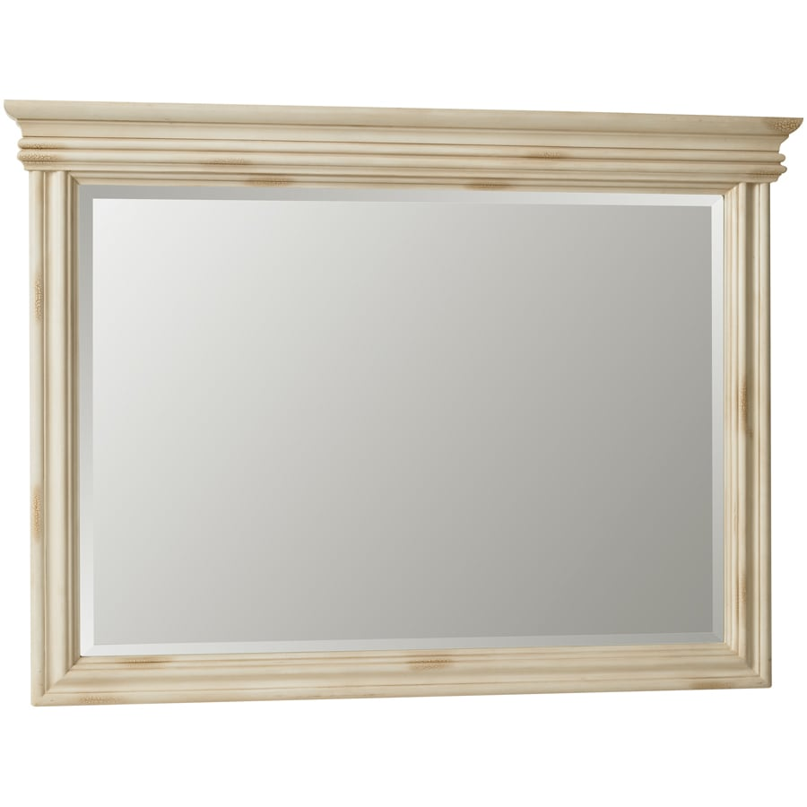 ESTATE by RSI Vintage 44.75-in W x 33-in H Antiqued White Rectangular Bathroom Mirror
