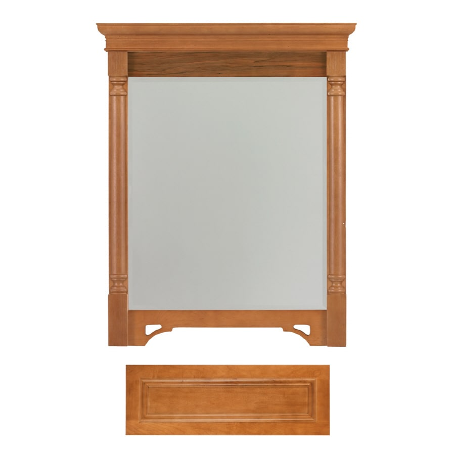 Architectural Bath Savannah 36.75-in H x 29.5-in W Cinnamon Rectangular Bathroom Mirror
