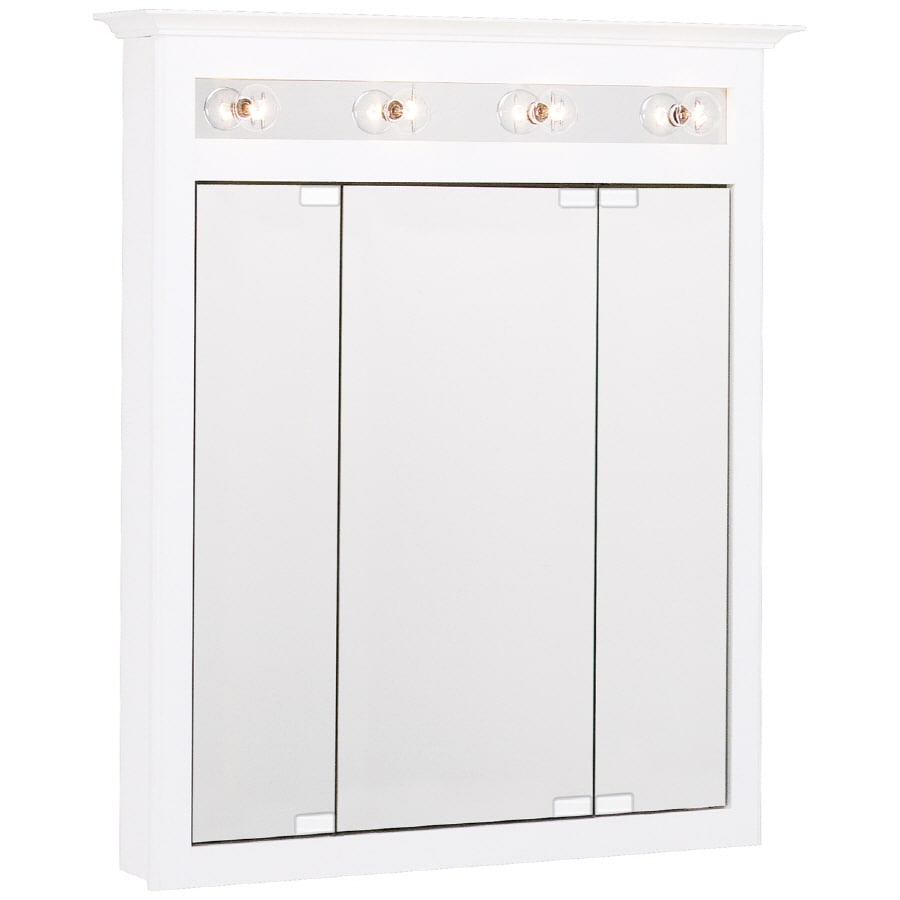 """Project Source 31-3/4"""" Wood Surface Mount Medicine Cabinet"""