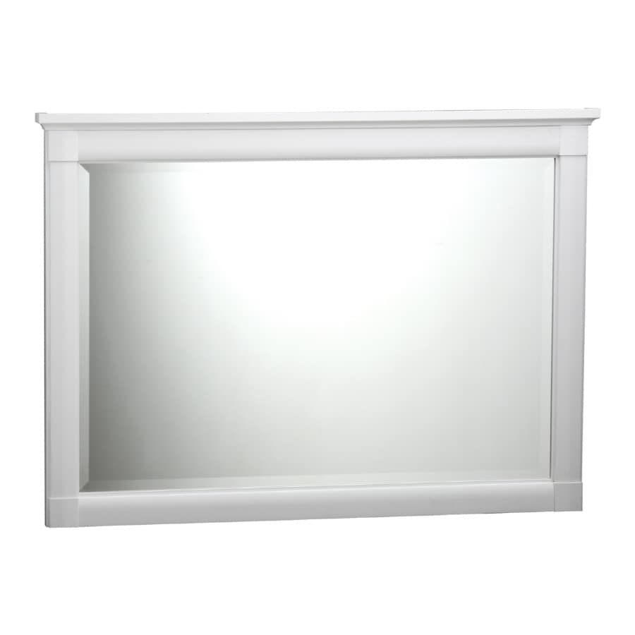 ESTATE by RSI Southport 43.25-in W x 31.25-in H White Rectangular Bathroom Mirror
