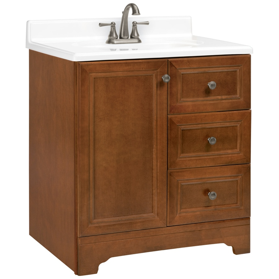 ESTATE by RSI Wheaton Chestnut Traditional Bathroom Vanity (Actual: 30-in x 21-in)
