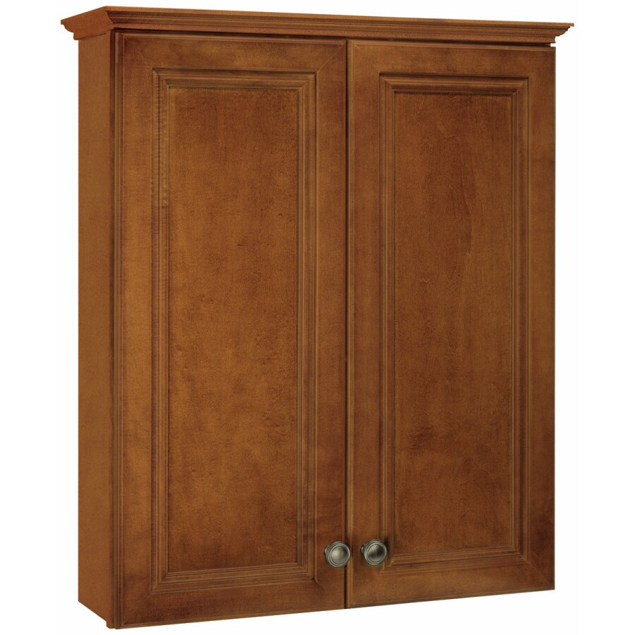 ESTATE by RSI Wheaton 25.5-in W x 29-in H x 8-in D Maple Bathroom Wall Cabinet