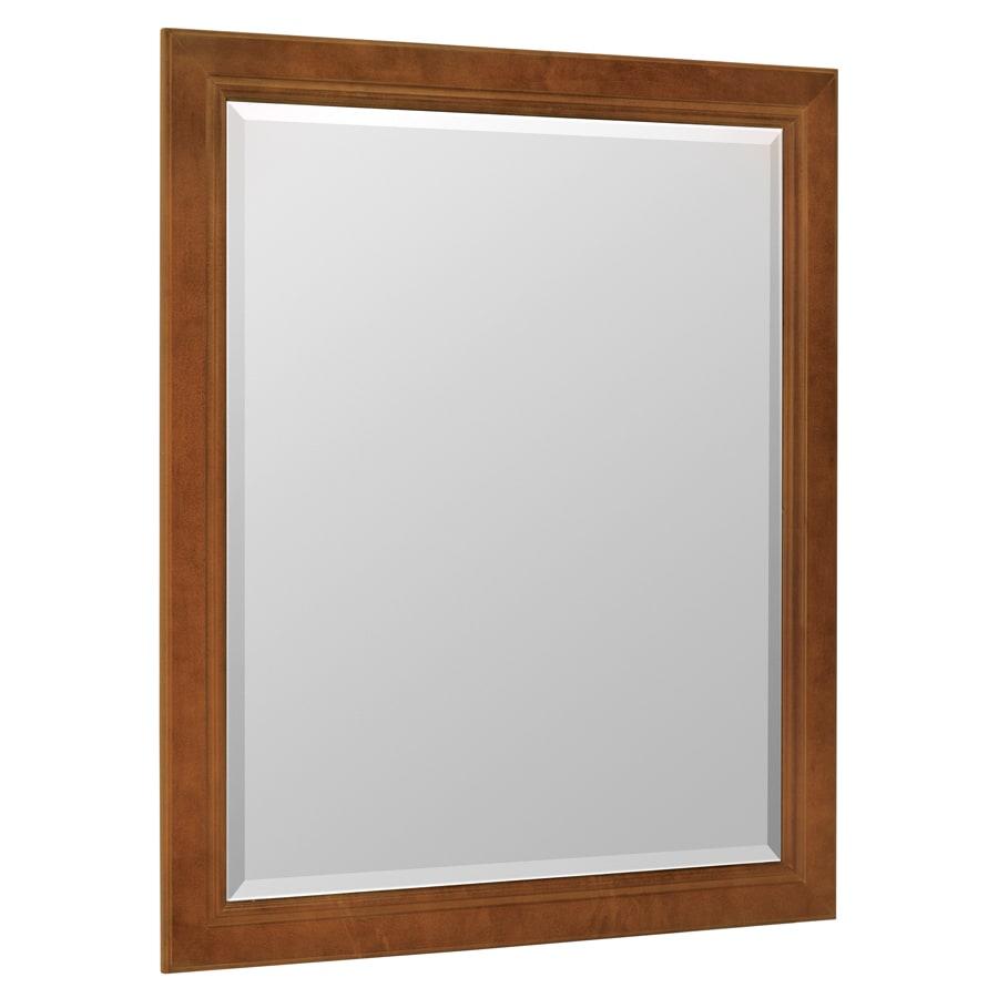 ESTATE by RSI Wheaton 28.5-in W x 34.5-in H Chestnut Rectangular Bathroom Mirror
