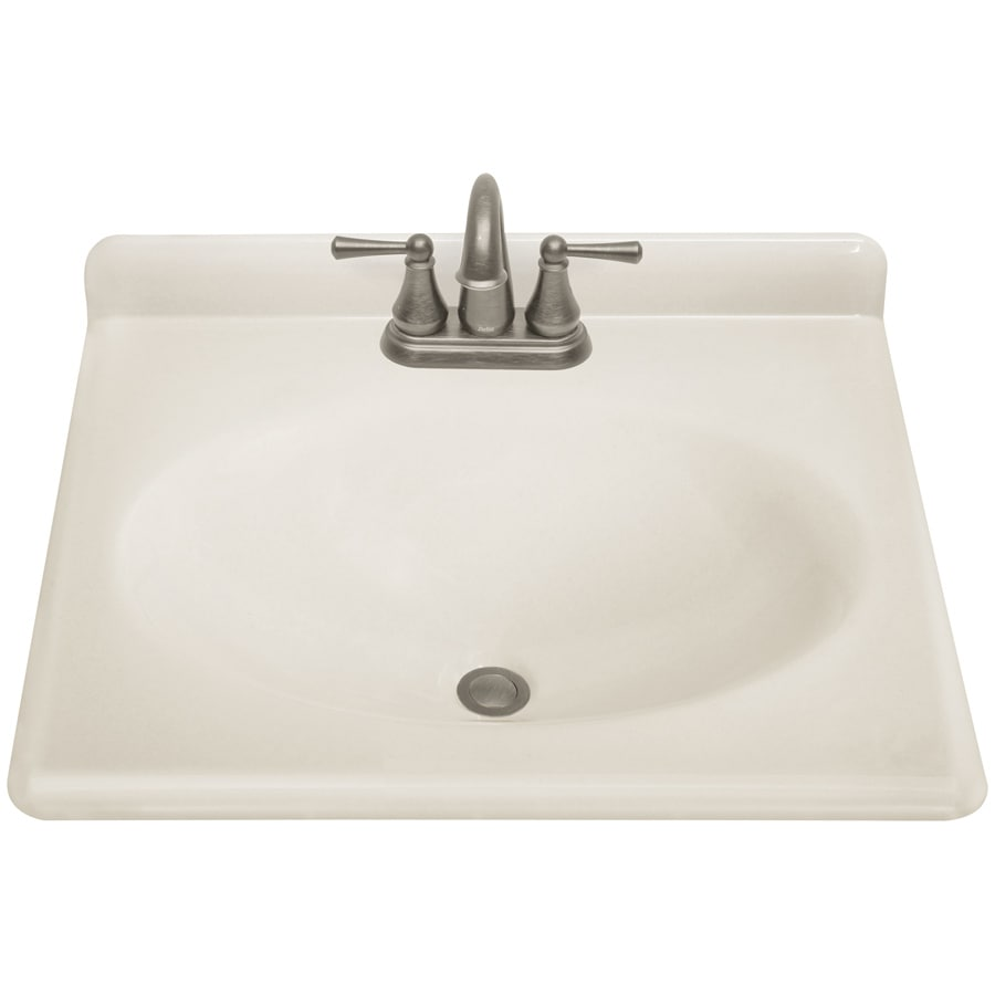 ESTATE by RSI Renditions Platinum Cultured Marble Integral Single Sink Bathroom Vanity Top (Actual: 25-in x 22-in)