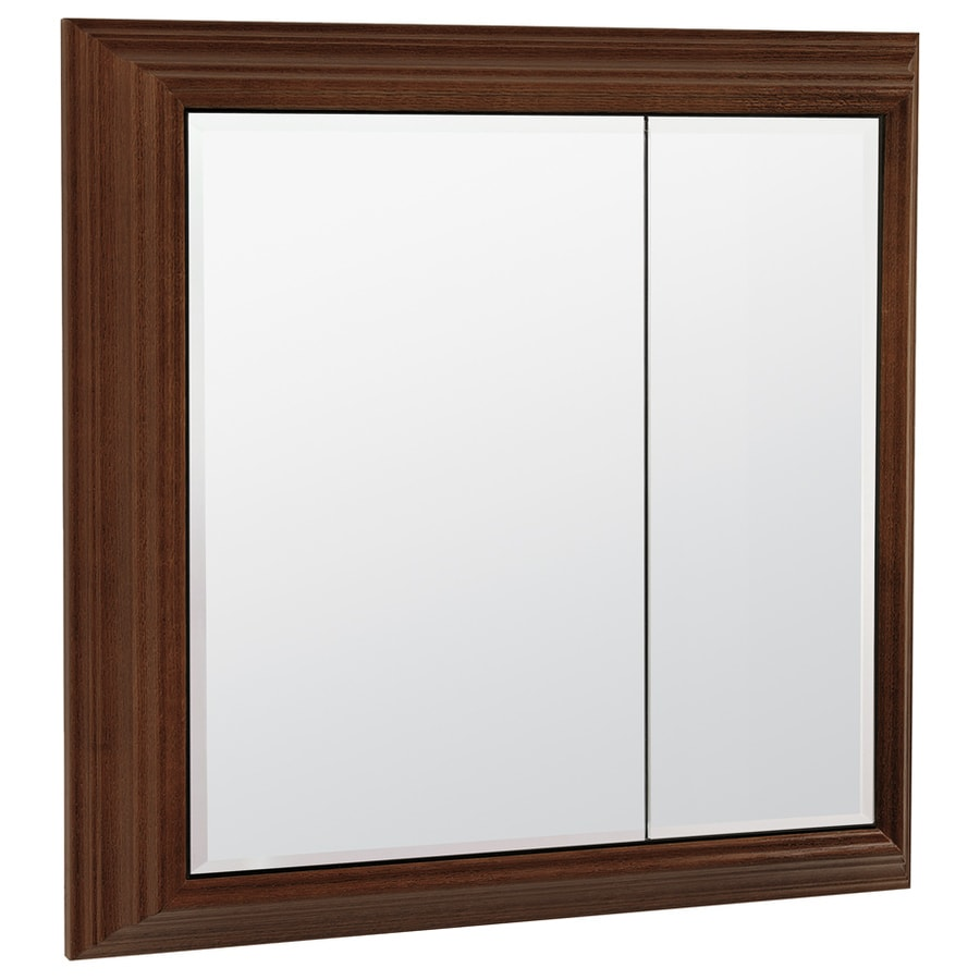 ESTATE by RSI Estate 27-1/2-in x 28.6-in Java MDF Surface Mount Medicine Cabinet