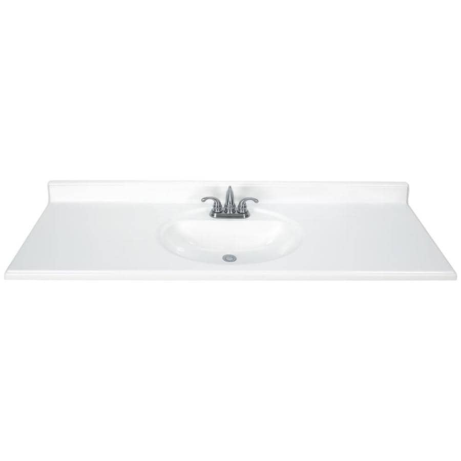 Shop White Cultured Marble Integral Single Sink Bathroom