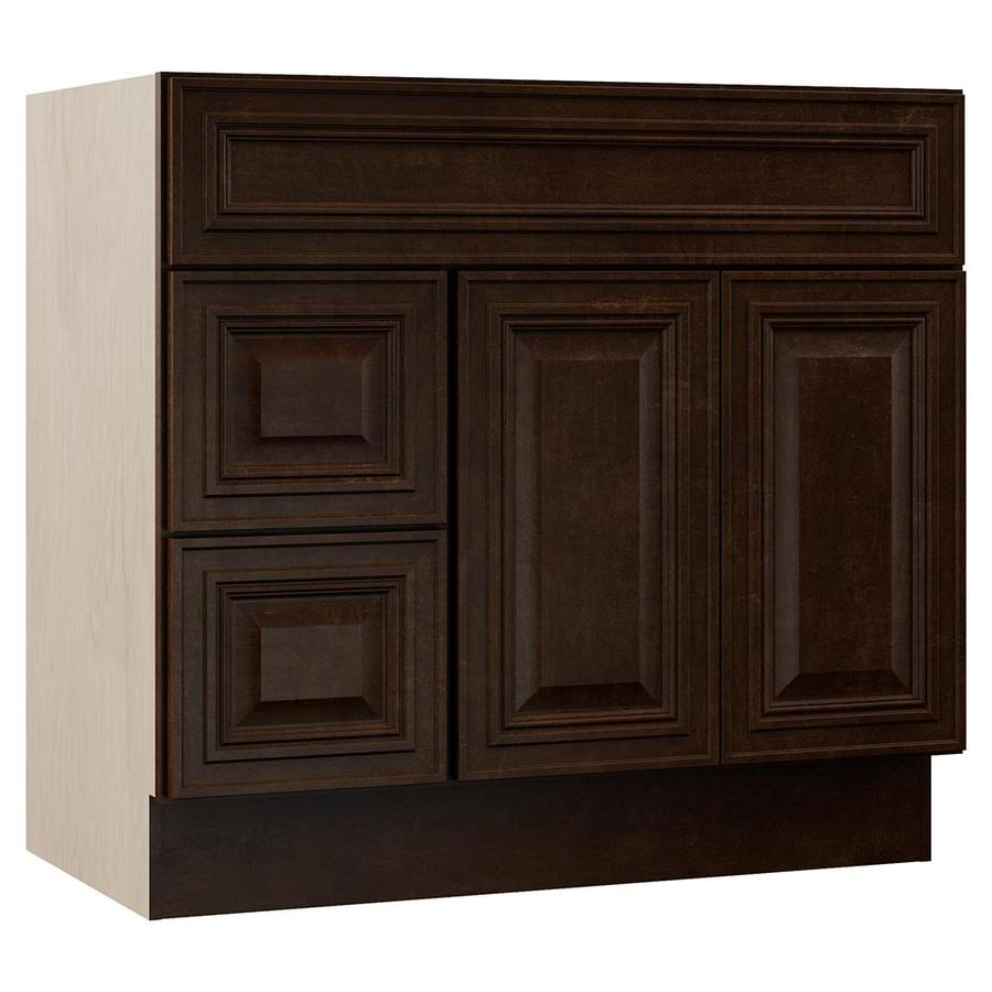 VILLA BATH by RSI Monroe Java Traditional Bathroom Vanity (Common: 36-in x 22-in; Actual: 36-in x 21.5-in)