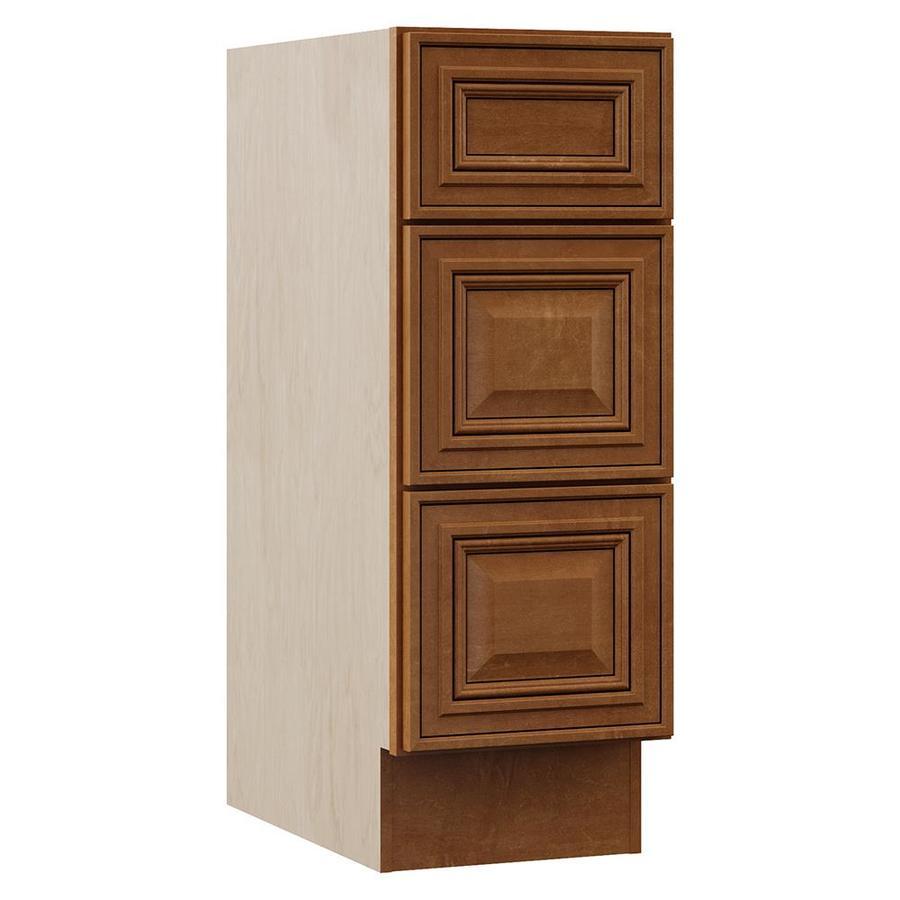 VILLA BATH by RSI Monroe 12-in W x 33.5-in H x 21.5-in D 3-Drawer Freestanding Cabinet Banks