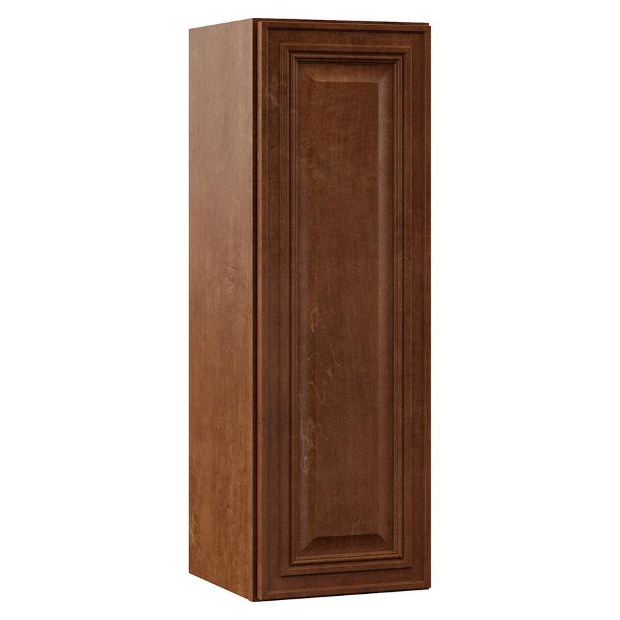 VILLA BATH by RSI Monroe 12-in W x 36-in H x 13-in D Cognac Bathroom Wall Cabinet