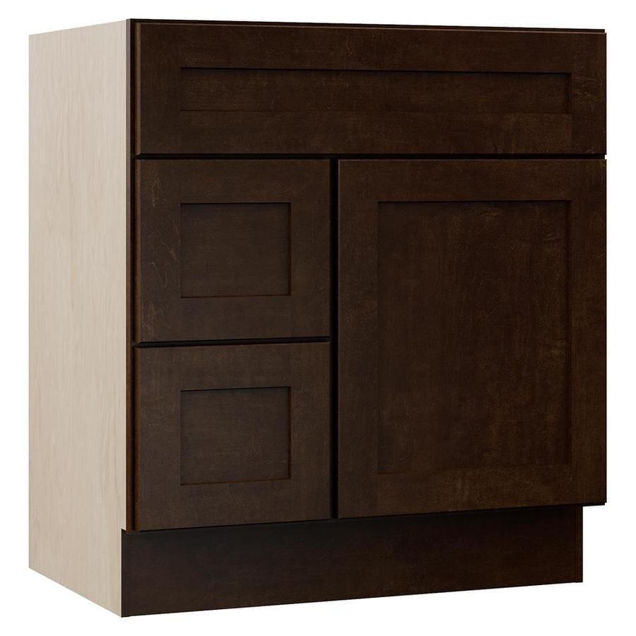 VILLA BATH by RSI Sanabelle Java Transitional Bathroom Vanity (Common: 30-in x 22-in; Actual: 30-in x 21.5-in)